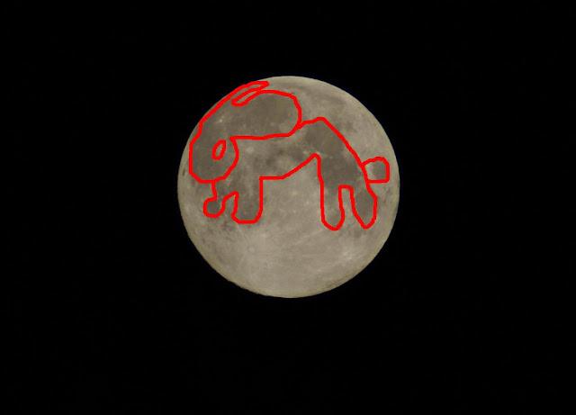 lapin sur la lune