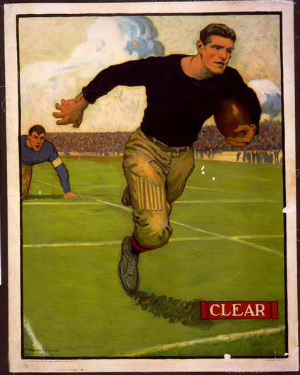 advertising, football, sports, vintage, vintage posters, retro prints, classic posters, free download, graphic design, Clear, Football - Vintage Sports Athletics Poster