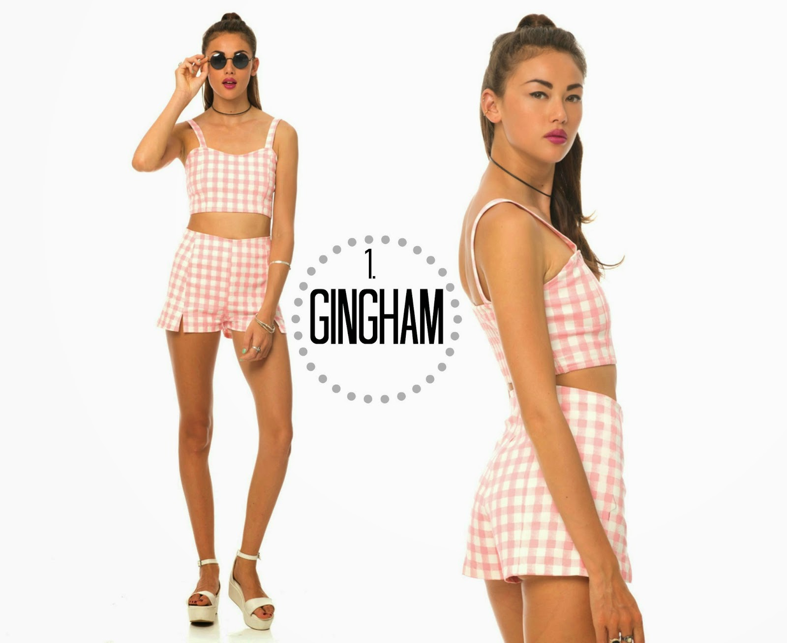 Motel Rocks Pink Gingham Co-ord Summer