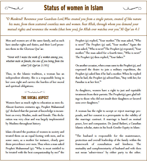 status of women in islam essay