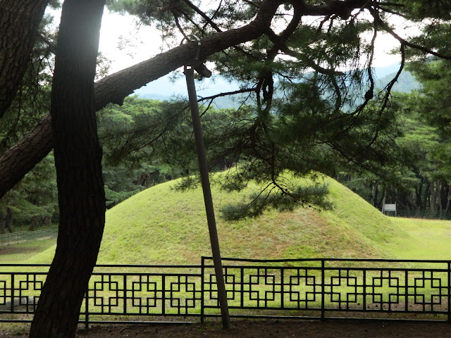 Tomb mounds at the Namsan Mountain