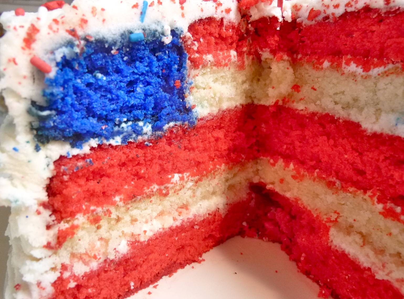 Diary of a Mad Hausfrau: US Flag Cake & Cupcakes and Back ...