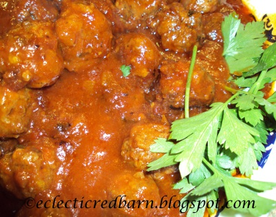 Eclectic Red Barn: Sensational Sweet and Sour Meatballs