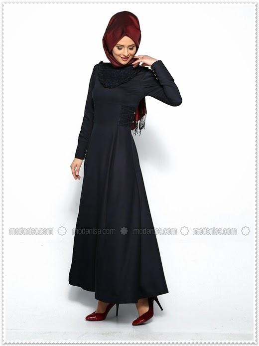 Butik Neşe 2014/15 Sonbahar Kış Tesettür Elbise Modelleri