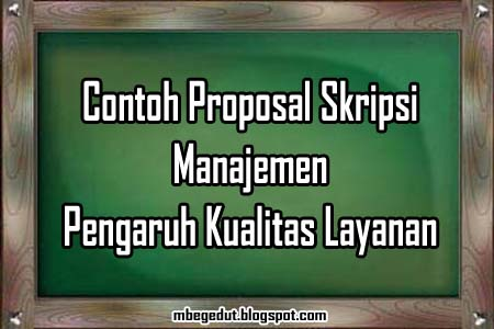 Free Download Proposal Skripsi Ekonomi Manajemen