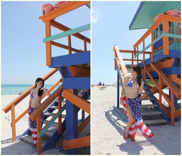 diana dazzling, fashion blogger, fashion blog,  cmgvb, como me gusta vivir bien, dazzling, luxury, 4th of July, America, happy, Miami, Miami beach, America flag bikini, USA