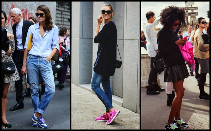 Bright Sneakers Street Style