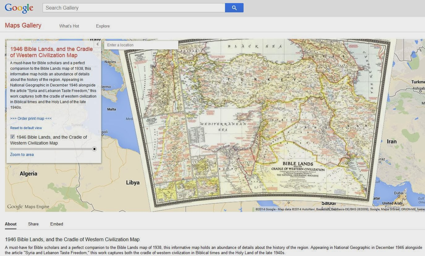 Biblical Stus and Technological Tools: Google Maps Gallery and ... on