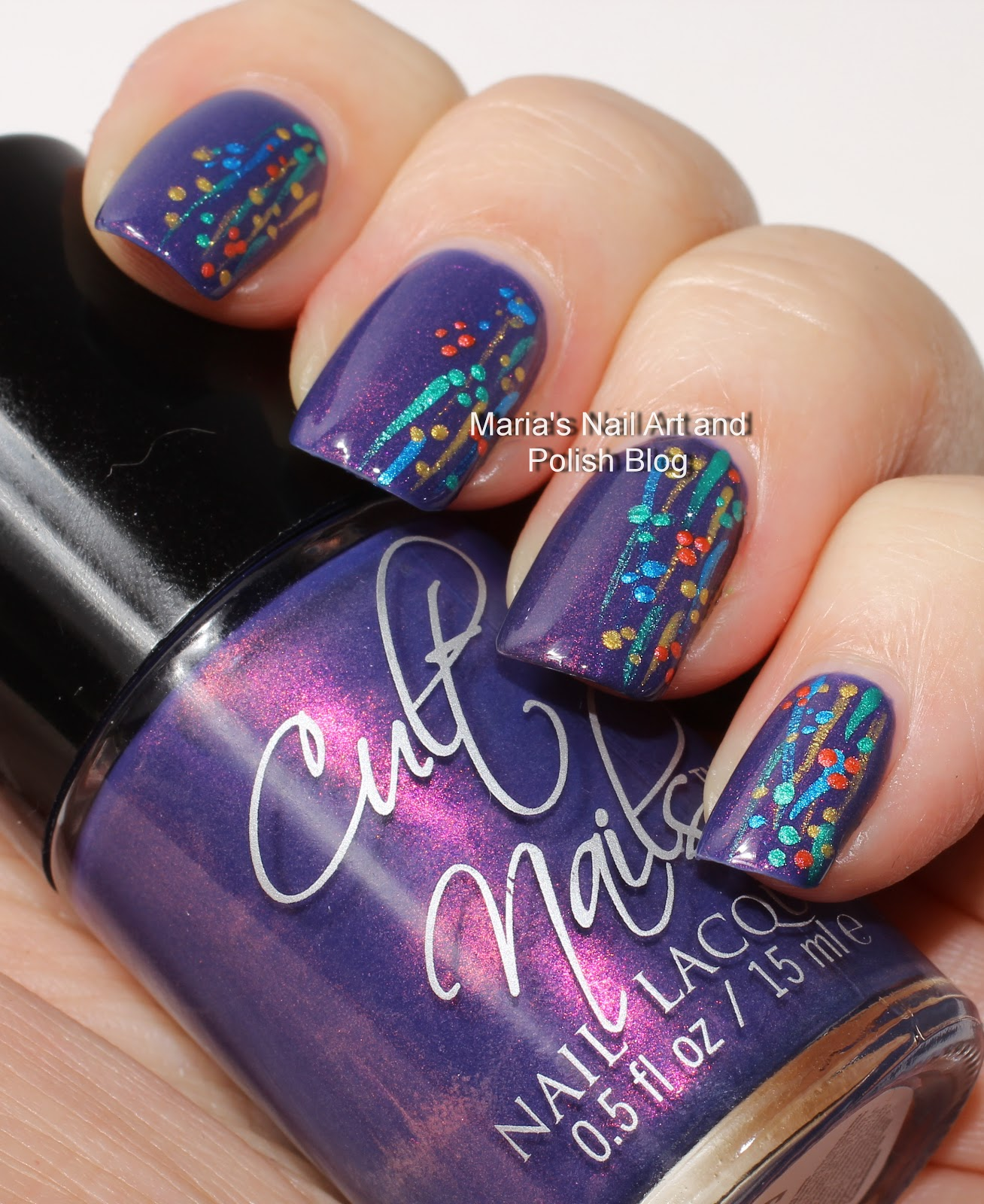 Simple Constellation Nail Art: Marias Nail Art And Polish Blog: Flushed With Stripes And