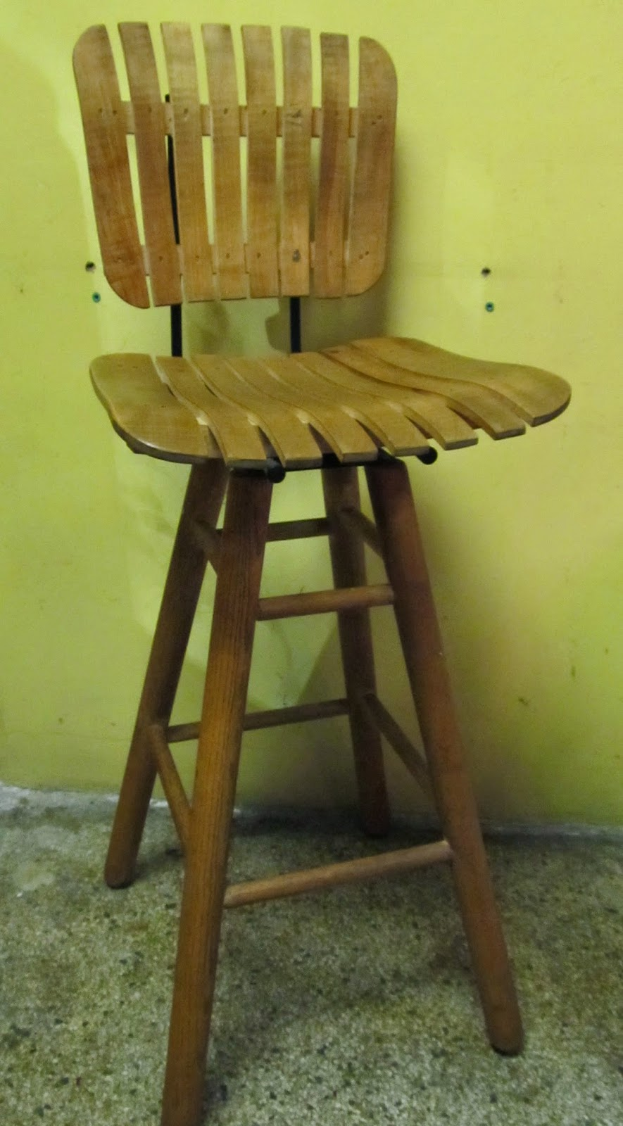 Era Antiques Pair Of Vintage Oak And Maple Bar Stools