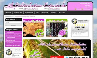 Websitebild von der Lichterketten-Experte