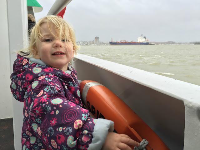 Tin Box Tot on the Gosport Ferry