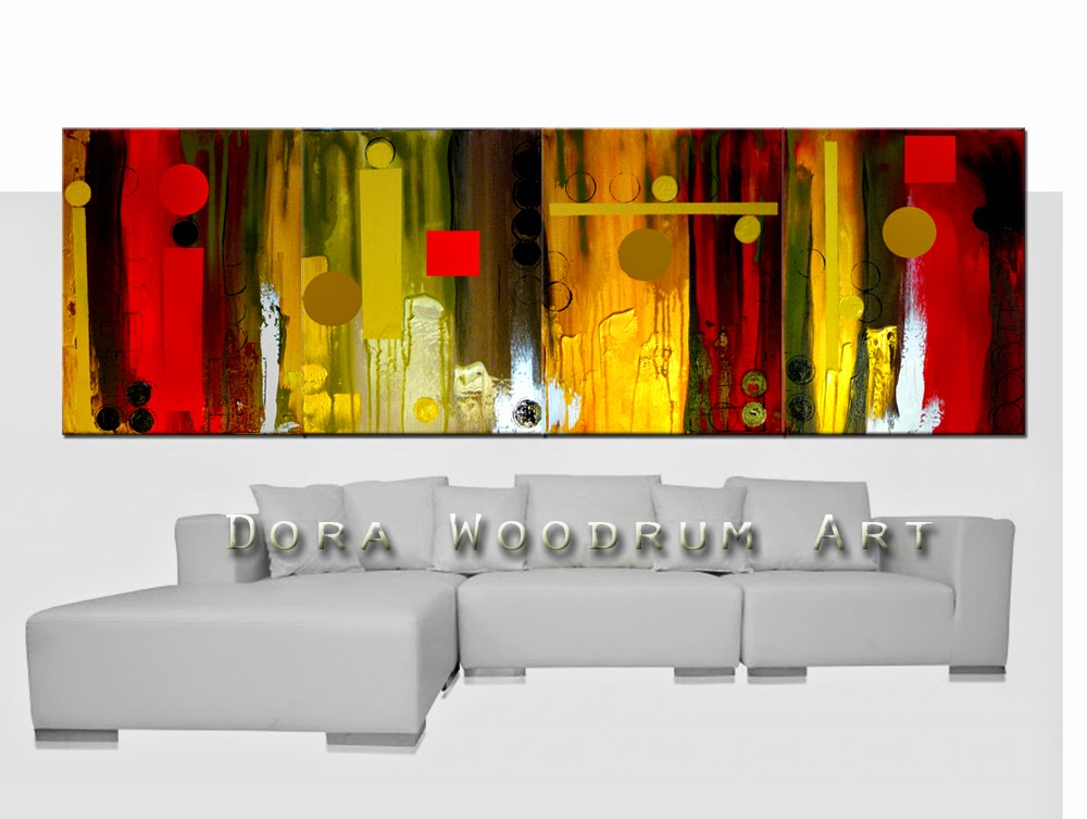 "Abstract Painting ""City Lights"" by Dora Woodrum"