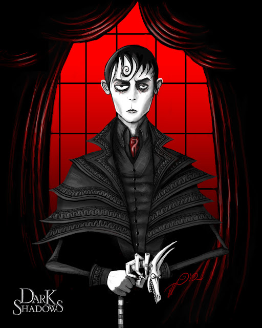 Portrait of Barnabas Collins por whitebunny