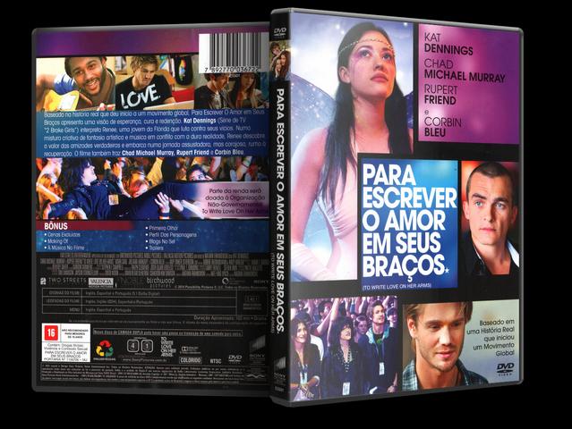 Capa DVD Para Escrever O Amor Em Seus Braços