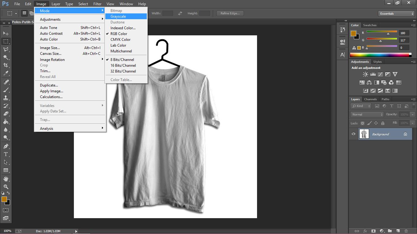 Manipulasi tekstur kaos dengan Photoshop