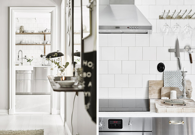 Frente de cocina alicatado blanco