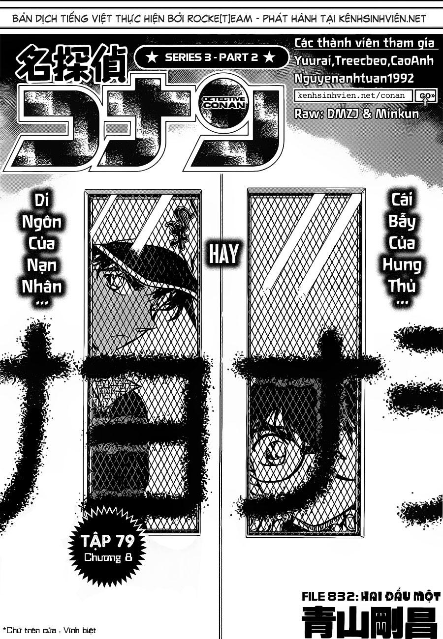 Detective Conan - Thám Tử Lừng Danh Conan chap 832 page 2 - IZTruyenTranh.com