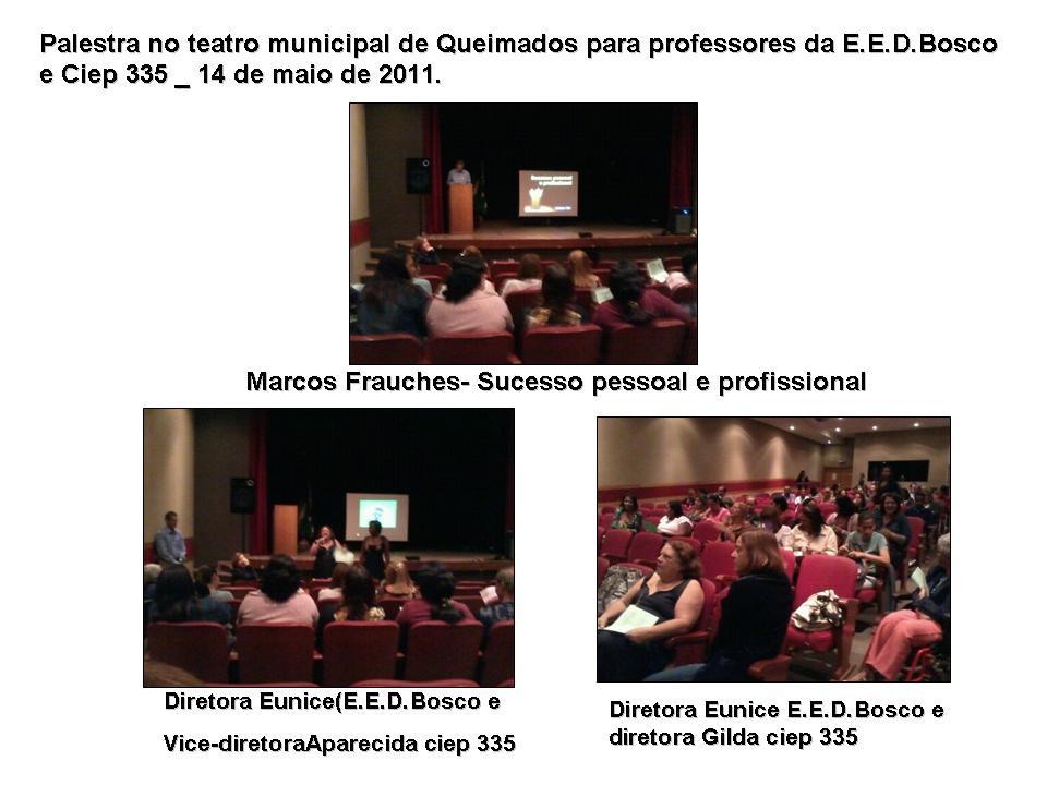 Encontro com professores - Palestra no teatro municipal de Queimados