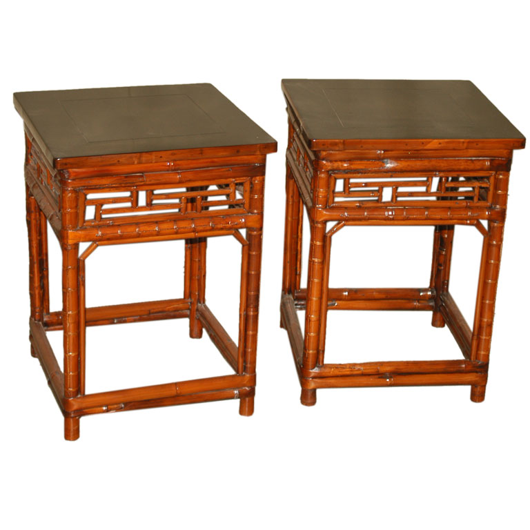 how to paint would and bamboo end table