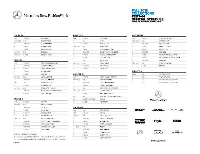 New York Fashion Week Details
