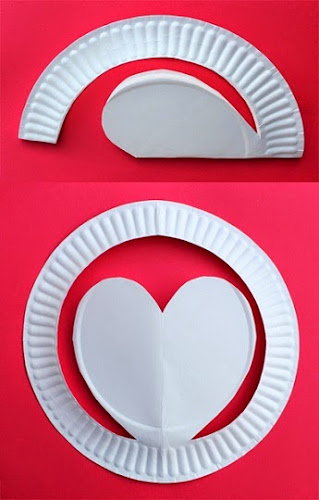 Simple and inexpensive paper cutting craft for Valentines day