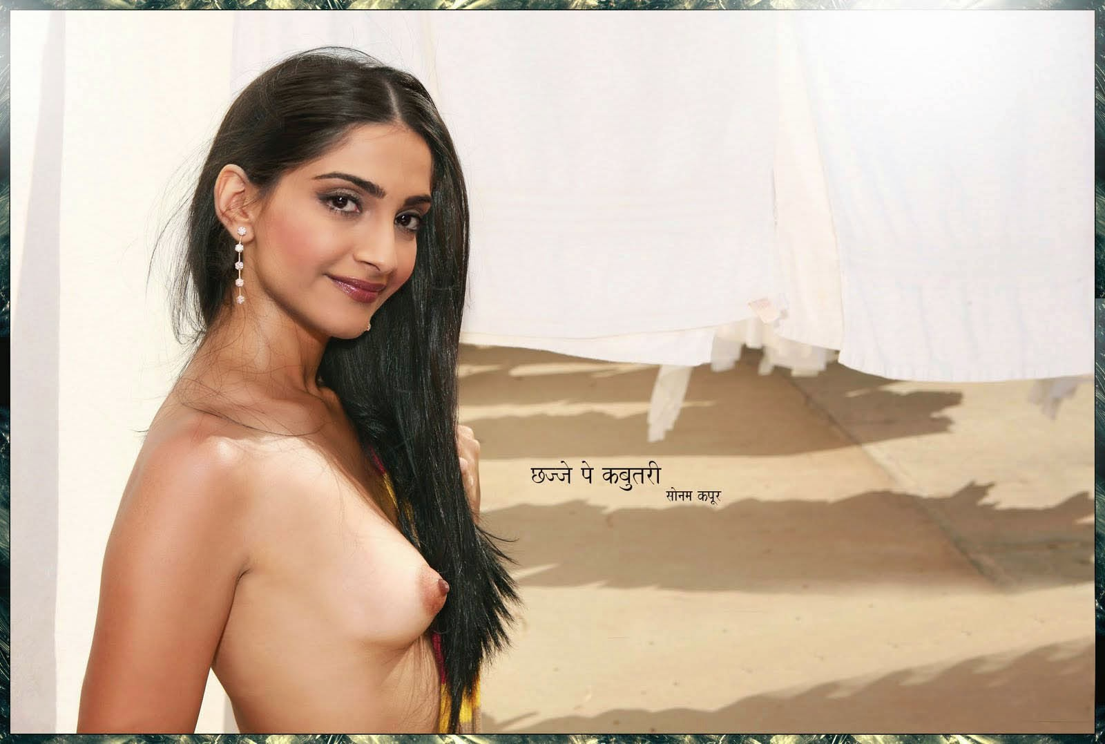 Sonam Kapoor Nude Bathing At Bathtub Showing Boobs And Pussy