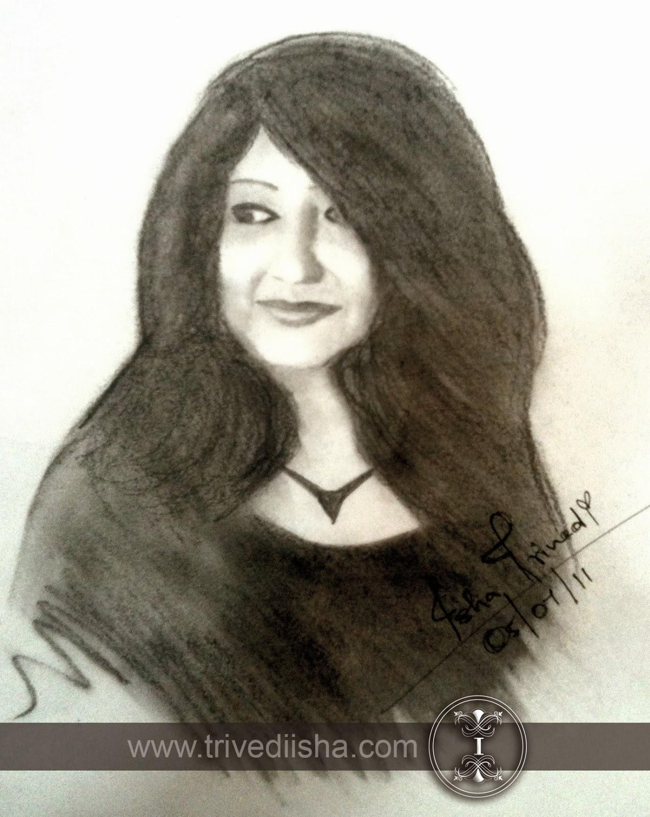 """Jyoti Trivedi Sketched by Isha Trivedi """"Isha Trivedi"""""""