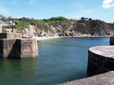 Entrance to Charlestown harbour Cornwall
