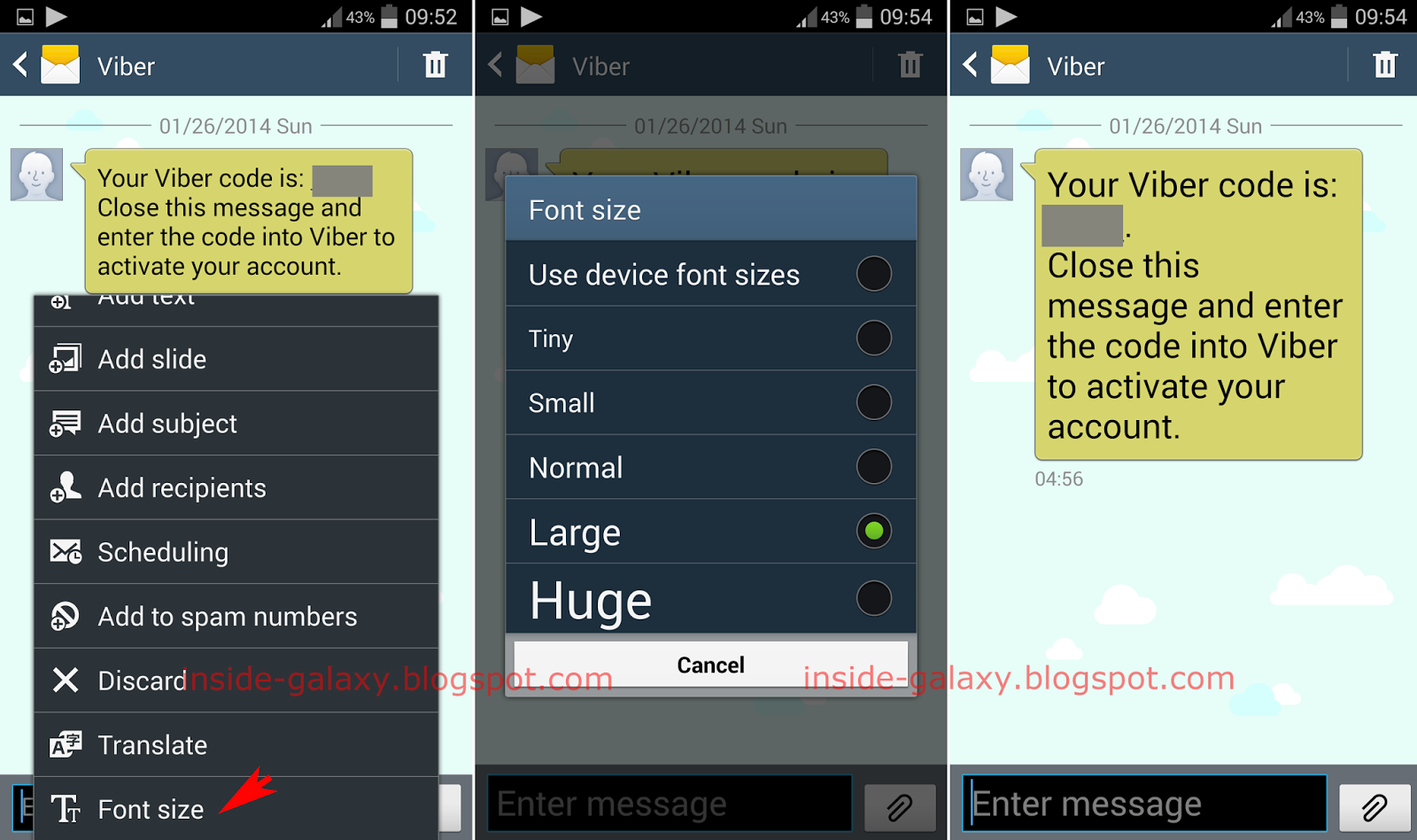 Samsung galaxy s4 how to change font size in messaging for Apps to change photos