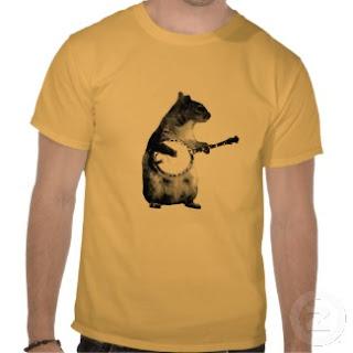 squirrel playing a banjo t shirt