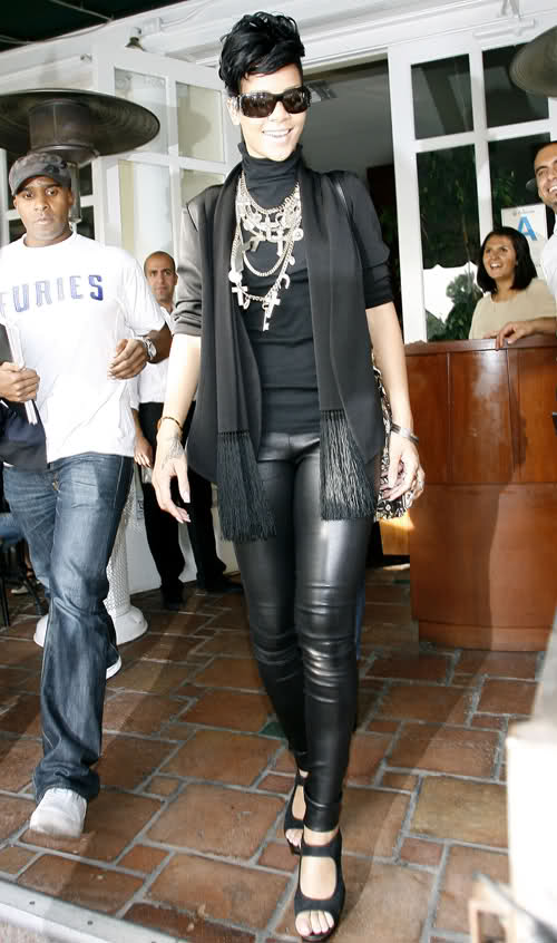 Rihanna Givenchy Layered Cross Necklace