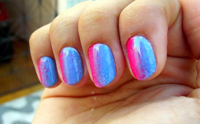 Degradê na vertical - Rosa e Azul