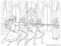 Gambar Mewarnai Untuk Anak Perempuan Barbie And 3 Musketeer