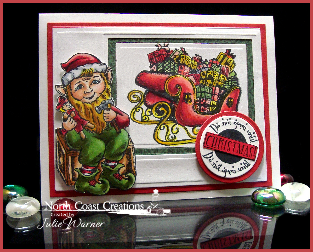 Stamps - North Coast Creations Elf, Santa's Sleigh