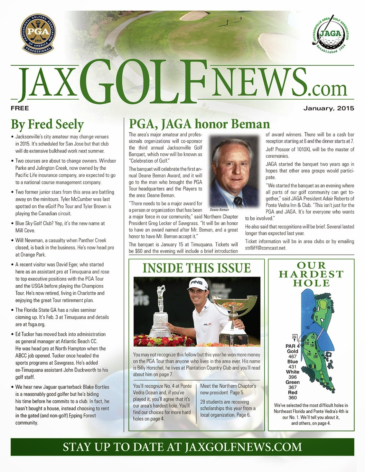 Latest Issue of Jax Golf News