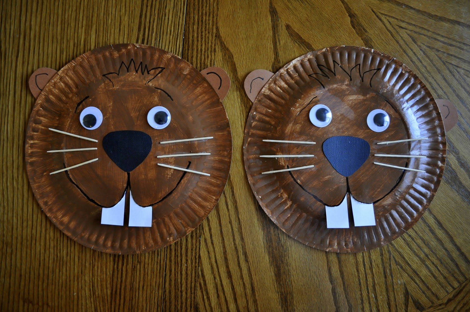 Paper Plate Groundhog I Heart Crafty Things