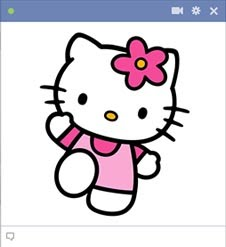 Olá Kitty Facebook Emoticon
