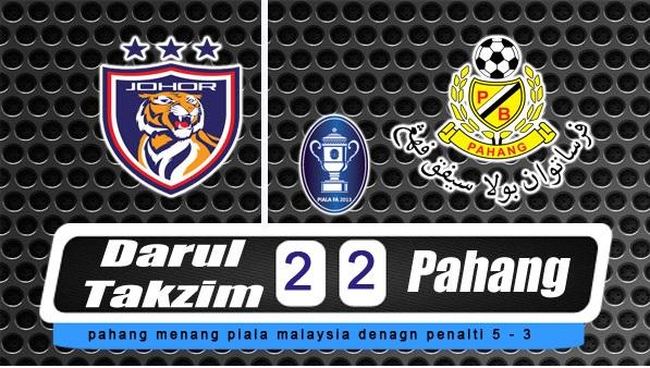 Keputusan Rasmi Johor JDT Lawan Pahang Final Piala Malaysia 2014
