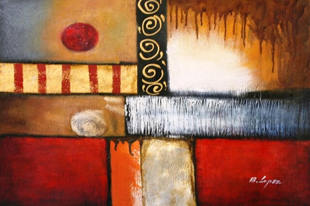 Cuadros modernos pinturas y dibujos galer a de for Fotos de cuadros abstractos al oleo