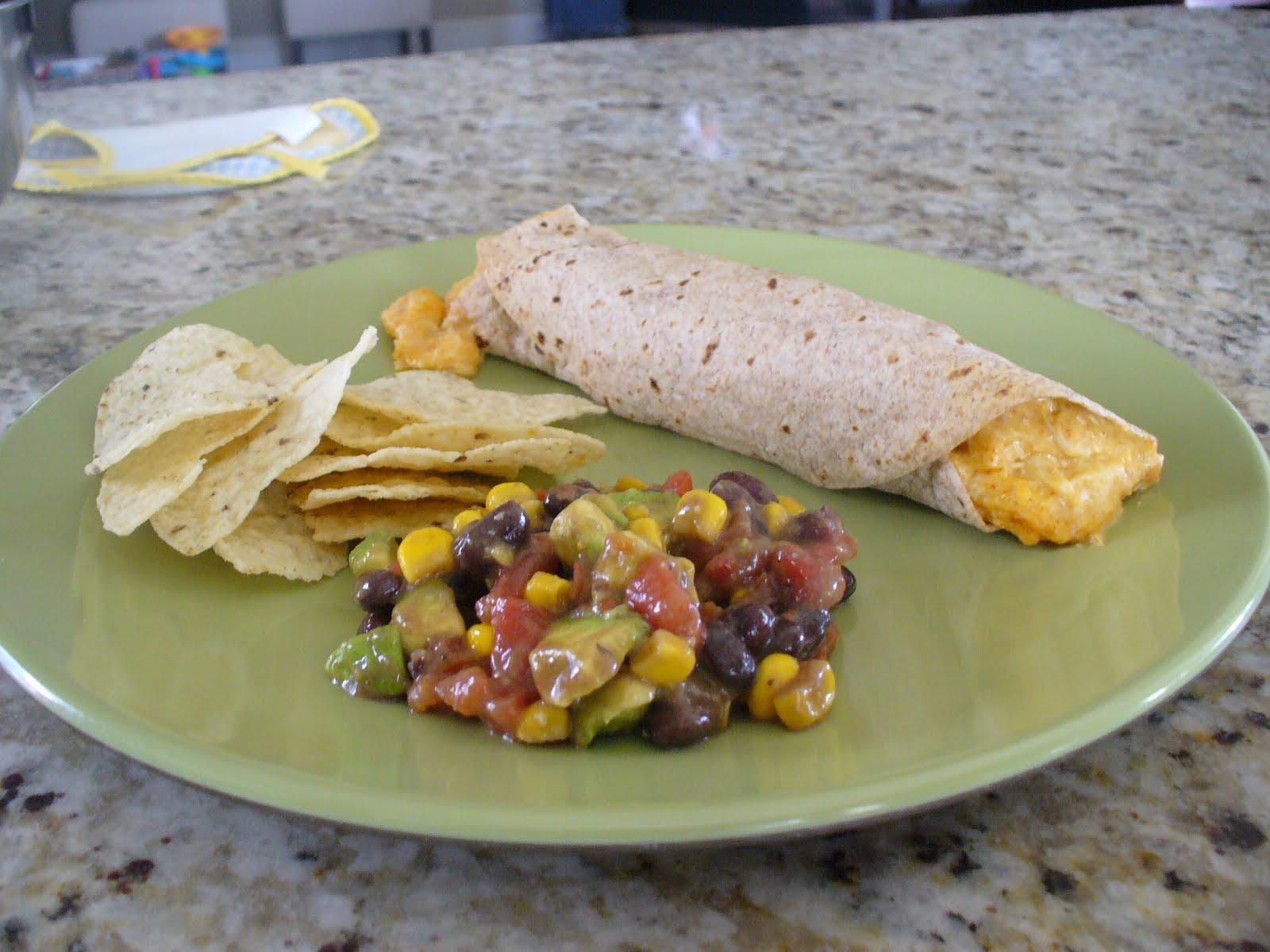 lil pink pocket: Cowboy Caviar and Chicken Enchiladas