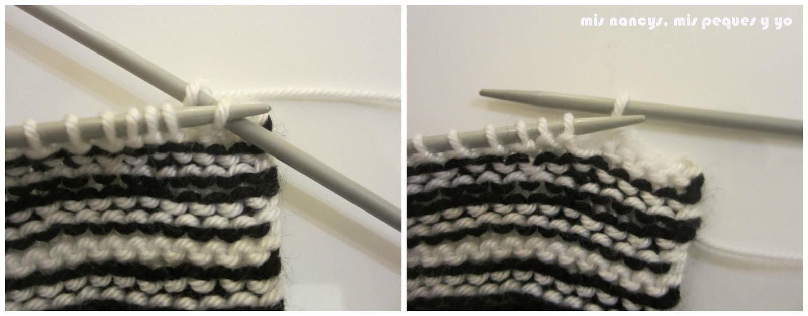 mis nancys, mis peques y yo, tutorial jersey de lana para Nancy, cerramos puntos