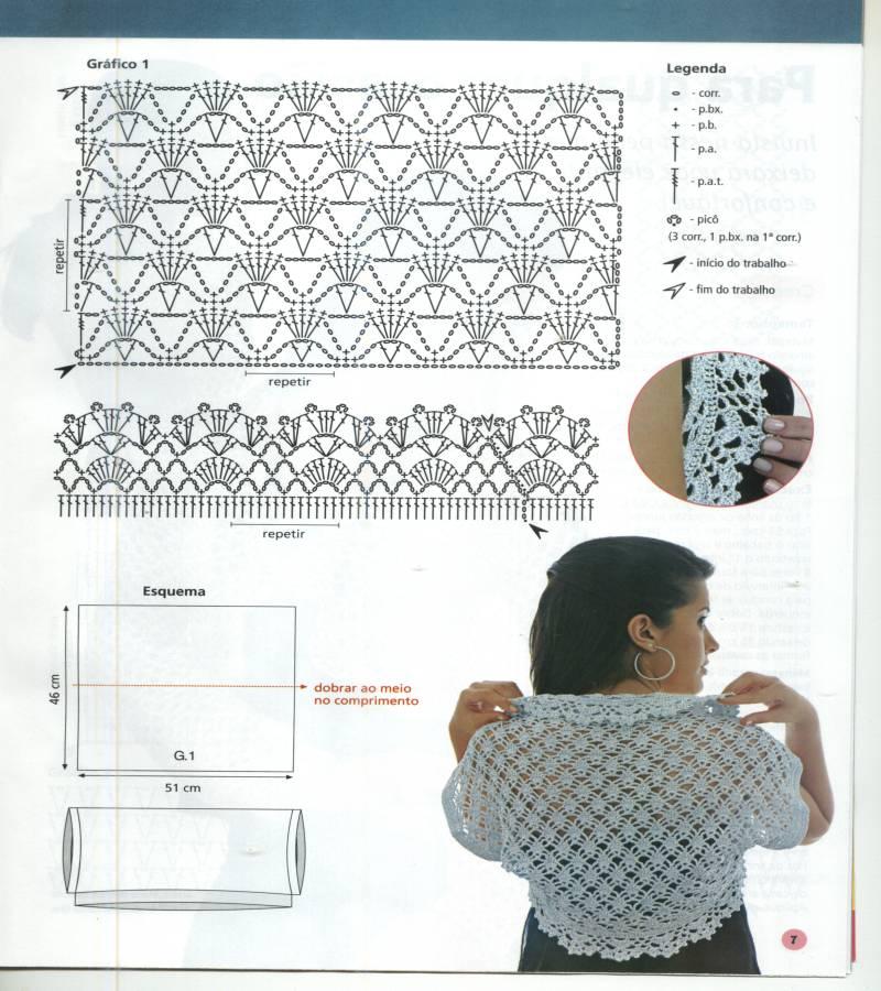 Bonito Patrón Bolero Tejer Imágenes - Manta de Tejer Patrón de Ideas ...