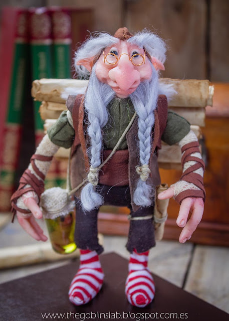 ooak old wise elf goblin