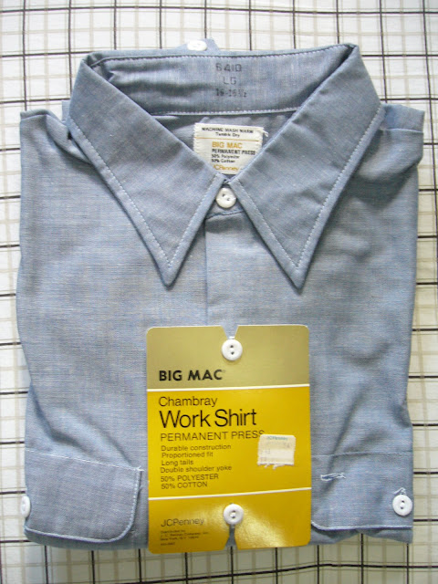 Vintage JCPenney Big Mac Chambray Work Shirt