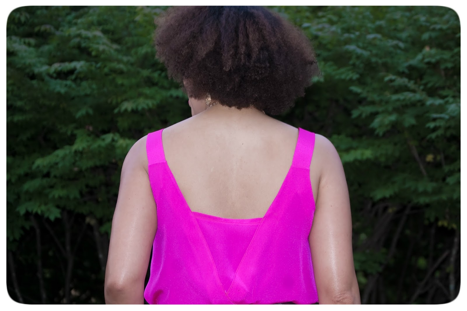 Magenta 2-Ply Silk Crepe de Chine Romper Made with Mood Fabrics!
