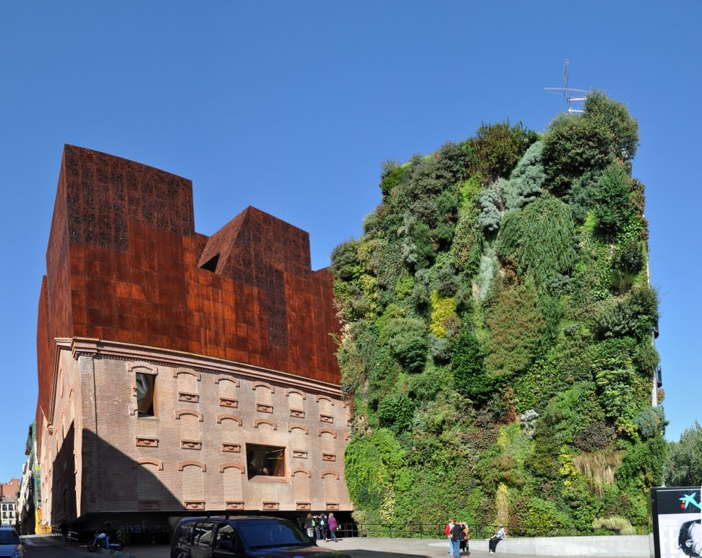 arquitectura comprometida jard n vertical del caixaforum On jardin vertical caixaforum madrid