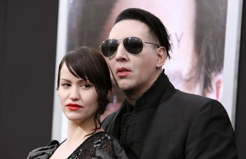 Marilyn Manson and Lindsay privately