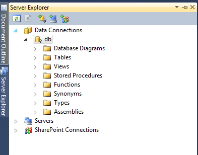 Visual Studio 2010 Server explorer - connect to database (Linq to SQL)