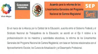 ACUERDO PARA LA REFORMA DE LOS LINEAMIENTOS GENERALES DEL PROGRAMA DE CARRERA MAGISTERIAL